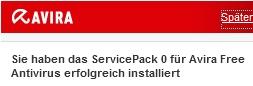 Avira AntiVir ServicePack0