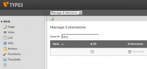 typo3-recycler extension Manager