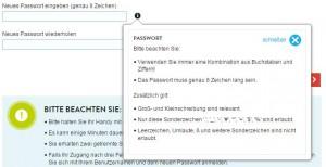 BASE Passwort Richtlinie