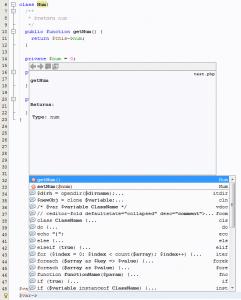 Online PHP IDE mit Smart Code Completion gesucht wie in Netbeans für selbst definierte Methoden